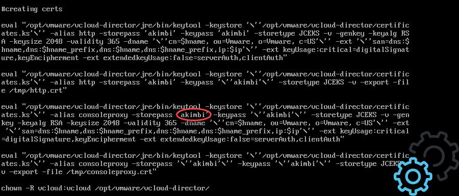 vCloud Director 9.5 - Code Firstboot