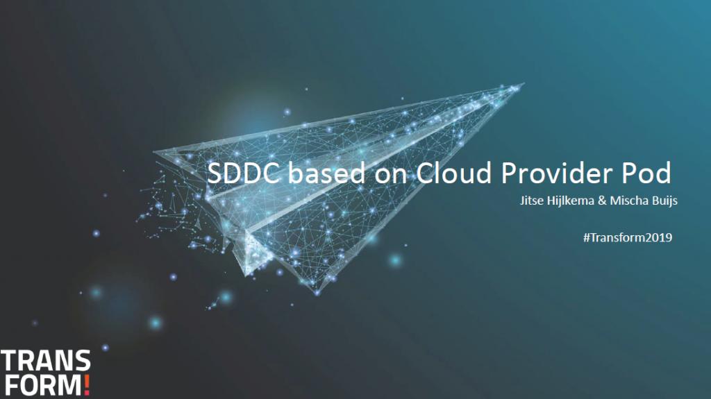 SDDC Based on Cloud Provider Pod