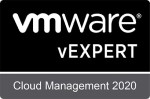 VMware vExpert Cloud Mangement 2020 - Badge