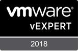 VMware vExpert 2018 - Badge
