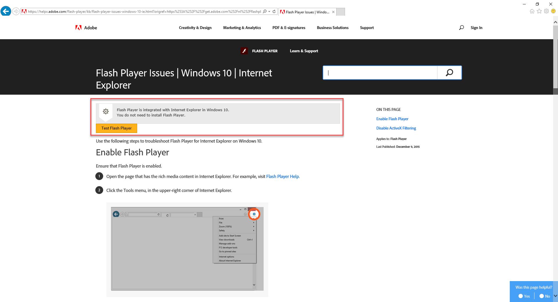 Opening vSphere Web Client (Flash) on Windows Server 2016