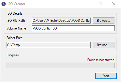 Creating an ISO file with VyOS Configuration