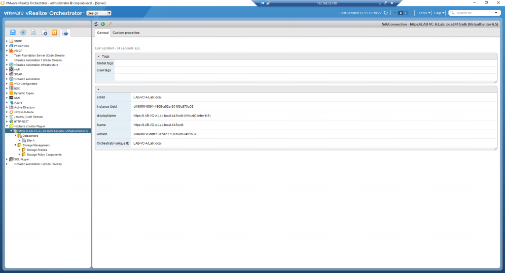 vRealize Orchestrator - vSphere Endpoint Working Correctly